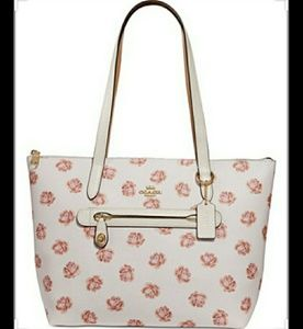 Like New- COACH Rose Print Pebbled leather Tote